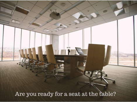 Take the next step in your career and a seat at that table
